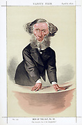 John Tyndall (1820-1893) Irish-born British physicist. {Professor at Royal Institution, London, 1854. Worked on Heat radiation and acoustics. Died of accidental Chloral poisoning. Cartoon from 'Vanity Fair', London, 6 April 1872, showing him lecturing .