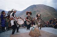 Nepal, Region du Rukum, Shaman de l'ethnie Kham Magar, Chamane. // Nepal, Rukum area, Kham Magar ethnic group shaman.