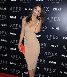 Emily Ratajkowski at the opening of Apex Social Club at Palms Casino Resort in Las Vegas, Nevada.