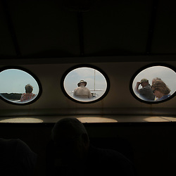 August 4, 2017 - Tangier Island, VA - Ferry passengers aboard the Stephen Thomas enroute to Tangier Island, Va.Photo by Susana Raab/Institute