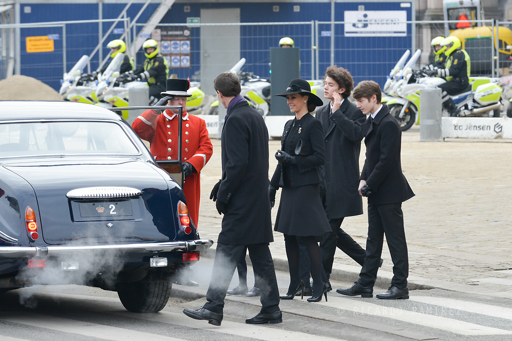 20.02.2018. Copenhagen, Denmark.<br /> Prince Joacim, Princess Marie, Prince Nikolai and Prince Felix leaves the Christiansborg Palace Church. <br /> Photo: Ricardo Ramirez.