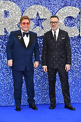 Elton John and David Furnish attending the Rocketman UK Premiere, at the Odeon Luxe, Leicester Square, London.Picture date: Monday May 20, 2019. Photo credit should read: Matt Crossick/Empics