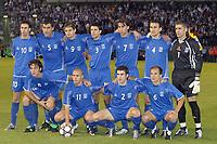Fotball<br /> Kvalifisering til EM 2004<br /> 11.10.2003<br /> Hellas v Nord Irland<br /> Norway Only<br /> Foto: Digitalsport<br /> <br /> FOOTBALL - EURO 2004 - QUALIFICATIONS - GROUP 6 - GREECE v NORTH IRELAND - 031011 -  TEAM GRECE ( BACK ROW LEFT TO RIGHT : VASSIUS TSARTAS / TRAIANOS DELLAS / AGELOS CHARISTEAS / TAKIS FYSSAS / PARASKEVAS ANTZAS / NIKOLAOS DABIZAS / ANTONIS NOKOPOLIDIS . FRONT ROW : ZISSIS VRYZAS / STYLIANOS GIANNAKOPOULOS / GIORGIOS SEIYARIDIS / AGELOS BASSINAS ) - PHOTO JEAN MARIE HERVIO