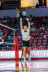 BLOOMINGTON, IL - August 13: Jake Barreau during a college Women's volleyball Scrimmage of the Illinois State Redbirds on  August 13 2021 at Illinois State University in Normal, IL. (Photo by Alan Look)