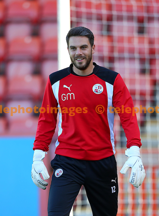 Crawley Town goalkeeper Glenn Morris during the Sky Bet League 2 match between Cheltenham Town and Crawley Town at the Abbey Business Stadium in Cheltenham. October 15, 2016.<br /> James Boardman / Telephoto Images<br /> +44 7967 642437