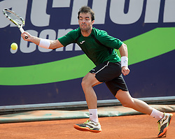 28.07.2014, Sportpark, Kitzbuehel, AUT, ATP World Tour, bet at home Cup 2014, Hauptrunde, Einzel, im Bild Pere Riba (ESP) // Pere Riba of Spain in action during men's singles at the main round of bet at home Cup 2014 tennis tournament of the ATP World Tour at the Sportpark in Kitzbuehel, Austria on 2014/07/28. EXPA Pictures © 2014, PhotoCredit: EXPA/ Johann Groder