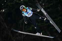 Ursa Bogataj of Slovenia soaring through the air during Trial Round at Day 1 of World Cup Ski Jumping Ladies Ljubno 2019, on February 8, 2019 in Ljubno ob Savinji, Slovenia. Photo by Matic Ritonja / Sportida