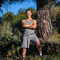 Personal trainer Phil Jeremy near his home on the Costa del Sol in Southern Spain on Friday January 29th 2021.   Phil's father, grandfather and great grandfather all passed at 59. It made him determined to out live them. In his fifties he decided to get fit. Running in Ultra Marathon's meant he needed to do weights to build him up to help with training. He became a PT around the age of 56 and now at 66, he is the most fit he has ever been.