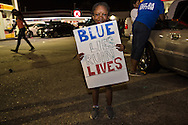 Little girl at protest against the killing of Alton Sterling on July 10 , 2016.