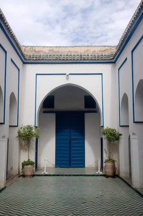 Courtyard of Bahia Palace Marrakech Morocco