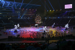 March 9, 2018 - Pyeongchang, GANGWON, SOUTH KOREA - March 09, 2018-Pyeongchang, South Korea-Entainers performs during the opening ceremony of the PyeongChang 2018 Paralympic Games at the PyeongChang Olympic Stadium in Pyeongchang, South Korea. (Credit Image: © Gmc via ZUMA Wire)