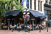 Water Street Cafe, Gastown District, downtown Vancouver, British Columbia, Canada.
