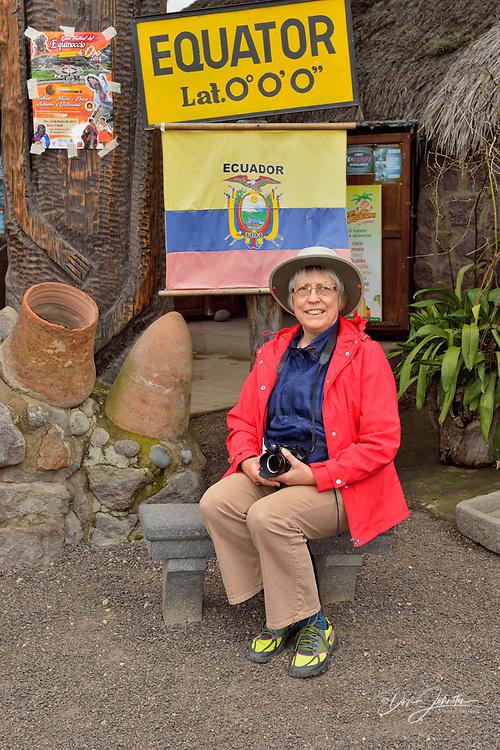 Equator exhibits and demonstrations at Ciudad Mitad del Mundo- the equatorial line, Museo de Sitio Intiñan, San Antonio parish, canton of Quito, Ecuador