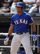 CHICAGO - APRIL 24:  Adrian Beltre #29 of the Texas Rangers looks on against the Chicago White Sox on April 24, 2016 at U.S. Cellular Field in Chicago, Illinois.  The White Sox defeated the Rangers 4-1.  (Photo by Ron Vesely)   Subject: Adrian Beltre