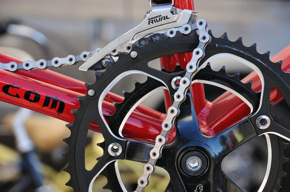 Jumped bicycle chain. Bike-tography by Martha Retallick.