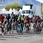 El Tour de Tucson 2019 finishers approaching the race's final corner. Bike-tography by Martha Retallick.