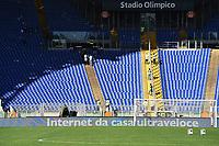 Curve vuote per sciopero tifosi. Empty stand for supporters strike <br /> Roma 08-11-2015 Stadio Olimpico Football Calcio Serie A 2015/2016 AS Roma - Lazio Foto Andrea Staccioli / Insidefoto