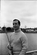 06-10/04/1964.04/06-10/1964.06-10 April 1964.Views on the River Shannon. Mr Thomas Maher, a local hotelier and secretary of the Carrick on Shannon Branch of the Ireland Waterways Association of Ireland. Living on the banks of the Shannon he is also a keen angler. Carrick on Shannon, Co. Offaly.