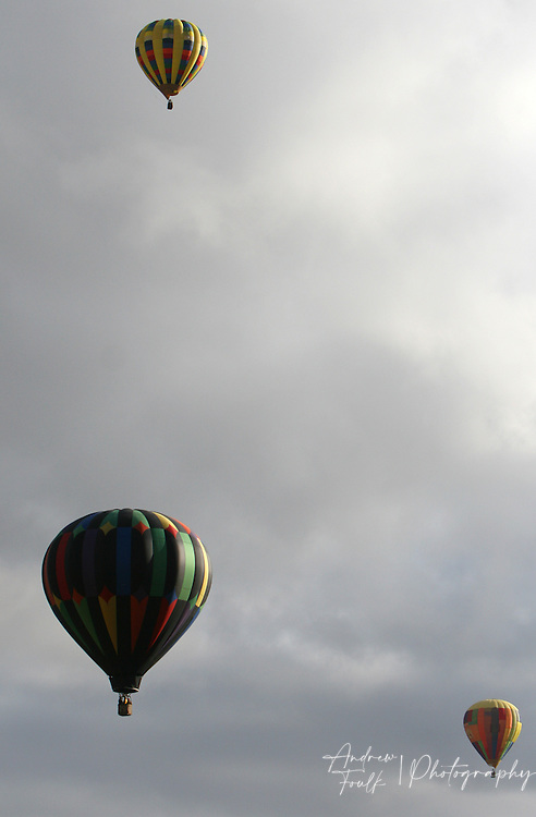 /Andrew Foulk/ For The Californian/.The skies over wine county were filled with hot air balloons Saturday morning , during the 26th annual Temecula Balloon and Wine Festival.