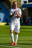 Coventry City defender Jack Grimmer (2) applauds the fans after  the EFL Sky Bet League 1 match between Gillingham and Coventry City at the MEMS Priestfield Stadium, Gillingham, England on 25 August 2018.