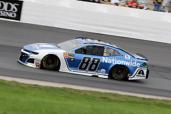 July 22, 2018 - Loudon, NH, U.S. - LOUDON, NH - JULY 22: Alex Bowman, driver of the #88 Nationwide Chevy  in turn 4 during the Monster Energy Cup Series Foxwoods Resort Casino 301 race on July, 21, 2018, at New Hampshire Motor Speedway in Loudon, NH. (Photo by Malcolm Hope/Icon Sportswire) (Credit Image: © Malcolm Hope/Icon SMI via ZUMA Press)