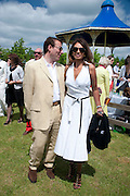 ALAN MILLER; GINA MILLER, The Dalwhinnie Crook  charity Polo match  at Longdole  Polo Club, Birdlip  hosted by the Halcyon Gallery. . 12 June 2010. -DO NOT ARCHIVE-© Copyright Photograph by Dafydd Jones. 248 Clapham Rd. London SW9 0PZ. Tel 0207 820 0771. www.dafjones.com.