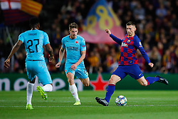 November 5, 2019, Barcelona, Catalonia, Spain: November 5, 2019 - Barcelona, Spain - Uefa Champions League Stage Group, FC Barcelona v Slavia Praga: Clement Lenglet of FC Barcelona passes the ball. (Credit Image: © Eric Alonso/ZUMA Wire)
