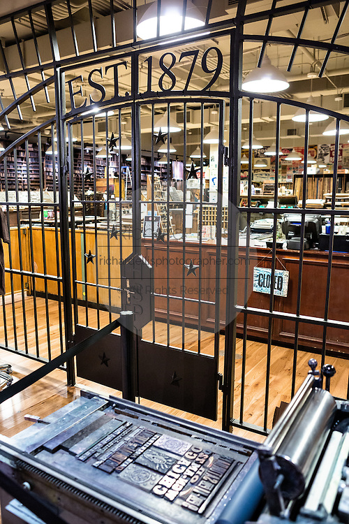 Hatch Print Show letterpress shop in the Country Music Hall of Fame in Nashville, TN.