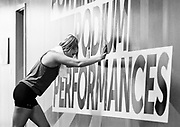 Wrestler Hannah Franson undergoes maximum aerobic power testing in the Canadian Sport Institute Calgary sport performance laboratory in Calgary, Alberta on June 14, 2018.