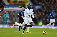 Modou Barrow of Swansea City makes a break. Premier league match, Everton v Swansea city at Goodison Park in Liverpool, Merseyside on Saturday 19th November 2016.<br /> pic by Chris Stading, Andrew Orchard sports photography.