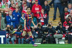 28.05.2011, Wembley Stadium, London, ENG, UEFA CHAMPIONSLEAGUE FINALE 2011, FC Barcelona (ESP) vs Manchester United (ENG), im Bild FC Barcelona's Pedro Rodriguez celebrates scoring the first goal against Manchester United during the UEFA Champions League Final at Wembley Stadium, EXPA Pictures © 2011, PhotoCredit: EXPA/ Propaganda/ Chris Brunskill *** ATTENTION *** UK OUT!