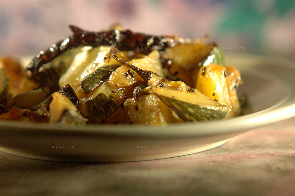Panch Phoran Jugni - Zucchini in five spices ( Recipe available upon request )