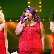 NLD/Amsterdam/20171117 - Muziekfeest Let's Dance 2017, Pointer Sisters, Sadako Johnson, Issa Pointer en Ruth Pointer Sayles
