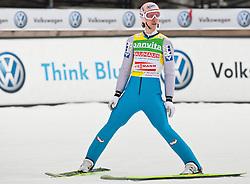 19.03.2011, Planica, Kranjska Gora, SLO, FIS World Cup Finale, Ski Nordisch, Skiflug Teambewerb, im Bild Martin Koch (AUT) // Martin Koch (AUT) during team event of the Ski Jumping World Cup finals in Planica, Slovenia, 19/3/2011. EXPA Pictures © 2011, PhotoCredit: EXPA/ J. Groder