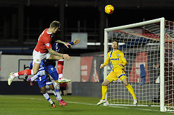 Bristol City's Aden Flint takes a shot at goal. - Photo mandatory by-line: Dougie Allward/JMP - Mobile: 07966 386802 - 29/01/2015 - SPORT - Football - Bristol - Ashton Gate - Bristol City v Gillingham - Johnstone Paint Trophy