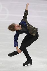 February 17, 2018 - Pyeongchang, KOREA - Deniss Vasiljevs of Latvia competing in the men's figure skating free skate program during the Pyeongchang 2018 Olympic Winter Games at Gangneung Ice Arena. (Credit Image: © David McIntyre via ZUMA Wire)