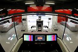 FORMEL 1: GP von Spanien, Barcelona, 08.05.2010<br /> Garage von McLaren, Illustration, Technik, Computer, Monitor<br /> © pixathlon