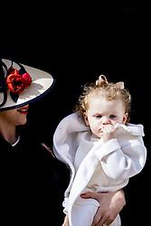 Fürstin Charlene mit Tochter Prinzessin Gabriella bei den Feierlichkeiten zum Nationalfeiertag in Monaco / 191116<br /> <br /> ***National Day in Monaco, November 19th, 2016***