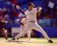 CHICAGO - CIRCA 1999:  Mariano Rivera of the New York Yankees pitches during an MLB game versus the Chicago White Sox at Comiskey Park in Chicago, Illinois. Rivera pitched for the Yankees from 1995-2013. (Photo by Ron Vesely) Subject:   Mariano Rivera
