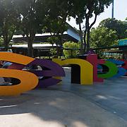 Sentosa Sign On Sentosa Island, Singapore