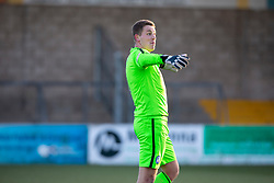 Forfar Athletic's keeper Marc McCallum at the end. Forfar Athletic 3 v 2 Raith Rovers, Scottish Football League Division One played 27/10/2018 at Forfar Athletic's home ground, Station Park, Forfar.