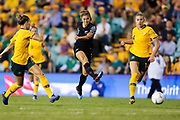 Rosie White shoots during the Cup of Nations Women's Football match, New Zealand Football Ferns v Matildas, Leichhardt Oval, Thursday 28th Feb 2019. Copyright Photo: David Neilson / www.photosport.nz