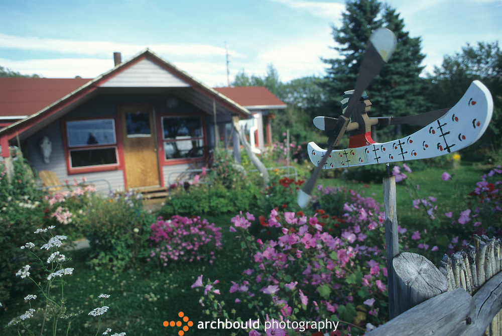 A house in the quaint town of Atlin, B.C., which is a vacation getaway for Yukoners.