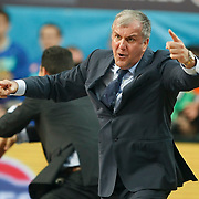 Panathinaikos's coach Zeljko Obradovic during their Euroleague Final Four semifinal Game 1 basketball match CSKA Moscow's between Panathinaikos at the Sinan Erdem Arena in Istanbul at Turkey on Friday, May, 11, 2012. Photo by TURKPIX