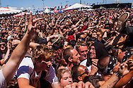 The 2012 Vans Warped Tour music festival sold out when it stopped in San Francisco on Saturday June 23, 2012. More than 20,000 fans attended the event at the lot next to AT&T Park.