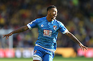 GOAL - Josh King of Bournemouth celebrates after scoring his sides 2nd goal .Premier league match, Watford v AFC Bournemouth at Vicarage Road in Watford, London on Saturday 1st October 2016.<br /> pic by John Patrick Fletcher, Andrew Orchard sports photography.