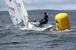 Day 4 NeilPryde Laser National Championships 2014 held at Largs Sailing Club, Scotland from the 10th-17th August.<br /> <br /> 201020, Adam STONE<br /> <br /> Image Credit Marc Turner