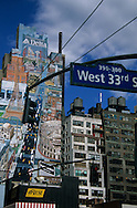 New York. Advertising on 8th avenue for Delta Airlines  Manathan New York - usa / 8em avenue publicite murale pour Delta airlines  Manathan New York - usa