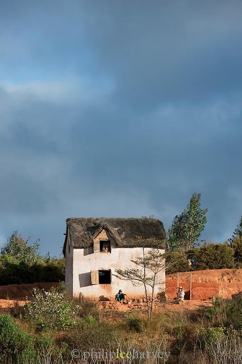 A small house on the outskirts of the captial city Antananarivo, Madagascar