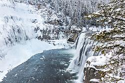 Upper Mesa Falls in Winter, Island Park Idaho